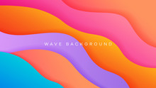 Colorfull Wavy Background With...
