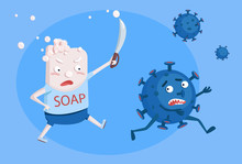 Soap Fights A Pathogenic Virus...