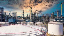 White Oil And Gas Refinery Sto...