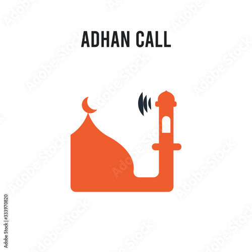 Adhan Call vector icon on white background Canvas Print
