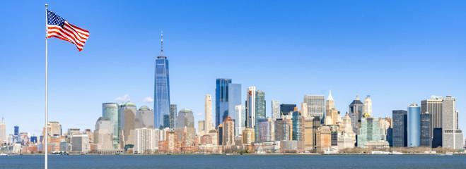 Lower Manhattan panorama new york