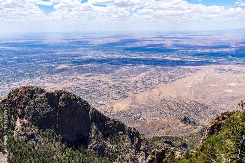 Mountain View of Albuquerque Canvas Print