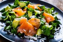 Salmon Salad - Smoked Salmon W...
