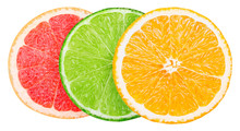 Isolated Citrus Slices. Fresh ...