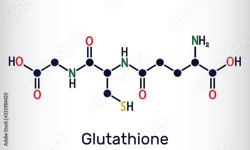 Glutathione, GSH, C10H17N3O6S molecule Canvas Print