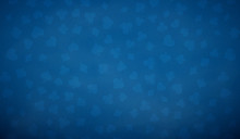 Poker Table Background In Blue...
