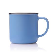 Side View Of Blue Ceramic Coff...