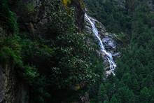 Beautiful Waterfall In Rocky M...