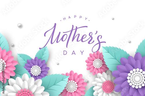 Vászonkép Happy Mothers day typography design
