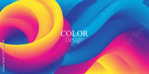 3d Wave. Fluid Colors. Liquid Shape. Ink Splash.