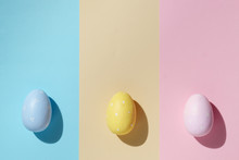 Colored Easter Egg In Minimal ...