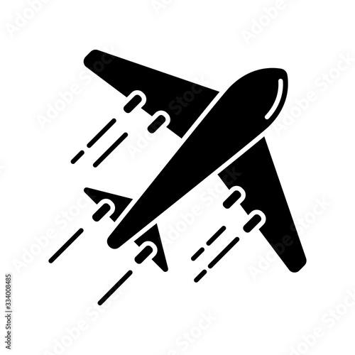 Photo Airplane black glyph icon