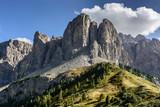Włochy. Dolomity -Sella - widok  z Val Gardena