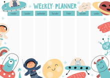 Weekly Planner With UFO, Funny...