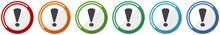 Exclamation Sign Icon Set, Fla...