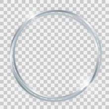 Triple Silver Shiny Circle Frame