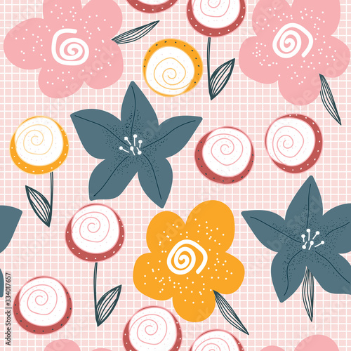 Photo Floral seamless pattern