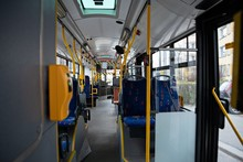 Empty Urban City Bus. Public T...