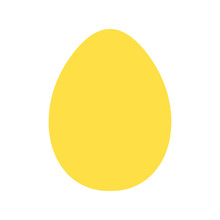 Yellow Egg Vector Icon On Whit...