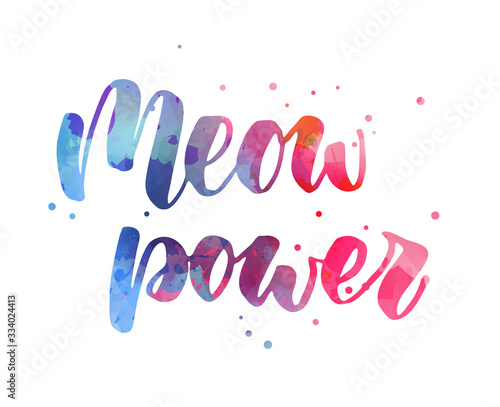 Photo Meow power lettering