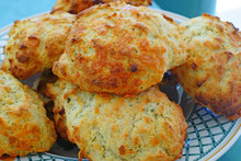 Baking Homemade Cheese And Garlic Biscuits