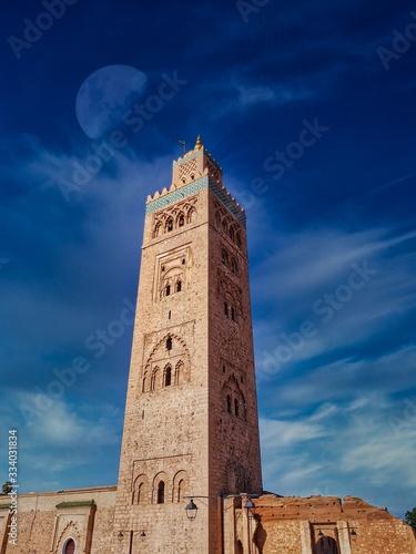 Fényképezés Mosquée La Koutoubia à Marrakech au Maroc