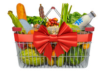 Shopping Basket With Grocery P...