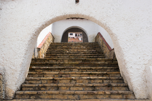 Fototapety, obrazy:  Stairs of a village with ancient architecture