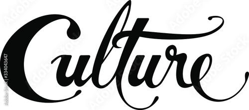 Fototapeta Culture - custom calligraphy text obraz