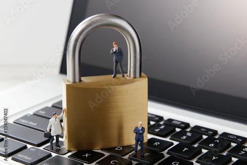 オンラインの個人情報保護 Canvas Print