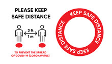 Keep Safe Distance Red Dot On ...