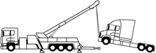 Heavy Duty Truck Recovery - Heavy Vehicle Recovery - Towing - Wrecker Truck - Shape - 8x4 - European Truck - Icon