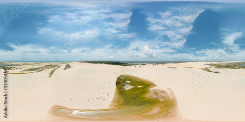 Aerial Image of Canoa Quebrada Beach, Aracati, Ceara, Brazil Canvas Print
