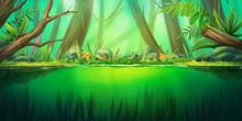 Mystery Forest Pond. Fantasy B...