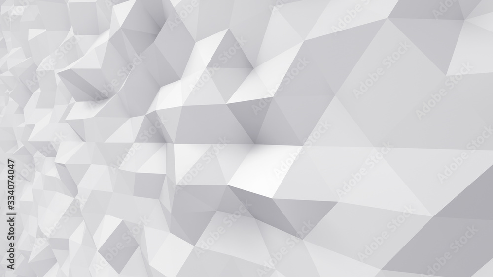 Fototapeta Geometric Polygon Wall abstract mesh structure 3D illustration background