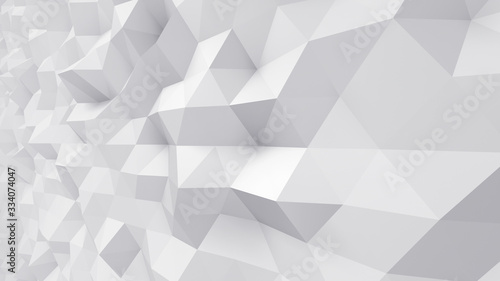 Tablou Canvas Geometric Polygon Wall abstract mesh structure 3D illustration background