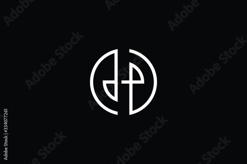 Minimal elegant monogram art logo Fototapet