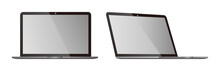 Pc Laptop Vector Isolated Blank Screen