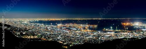 掬星台から眺める夜景、神戸市灘区摩耶山にて Fototapeta