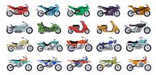Motorcycle Vector Cartoon Set ...