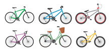 Cartoon Color Different Bicycl...