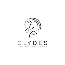 Clydes Logo, With Line Art Hor...