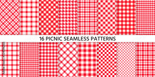 Picnic tablecloth seamless pattern Canvas Print