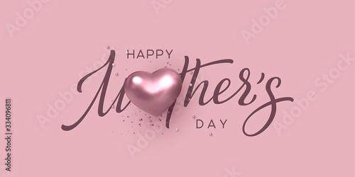 Fotografía Happy Mothers day typography design