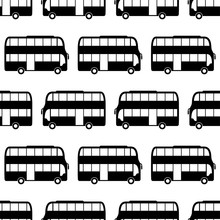 Double Decker Bus Icon Seamles...