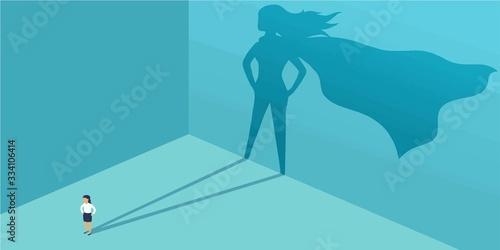 Fotografie, Obraz Illustration showing SUPERWOMEN hidden in every women