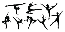 Women Ballet Dancer Silhouette Collection With Styles And Pose