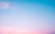 Sunset Dramatic Blue Sky Pink ...