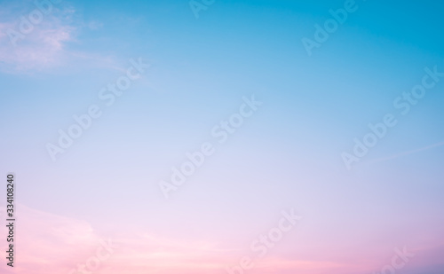 Fototapeta Sunset dramatic blue sky pink clouds background obraz