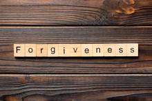 Forgiveness Word Written On Wo...